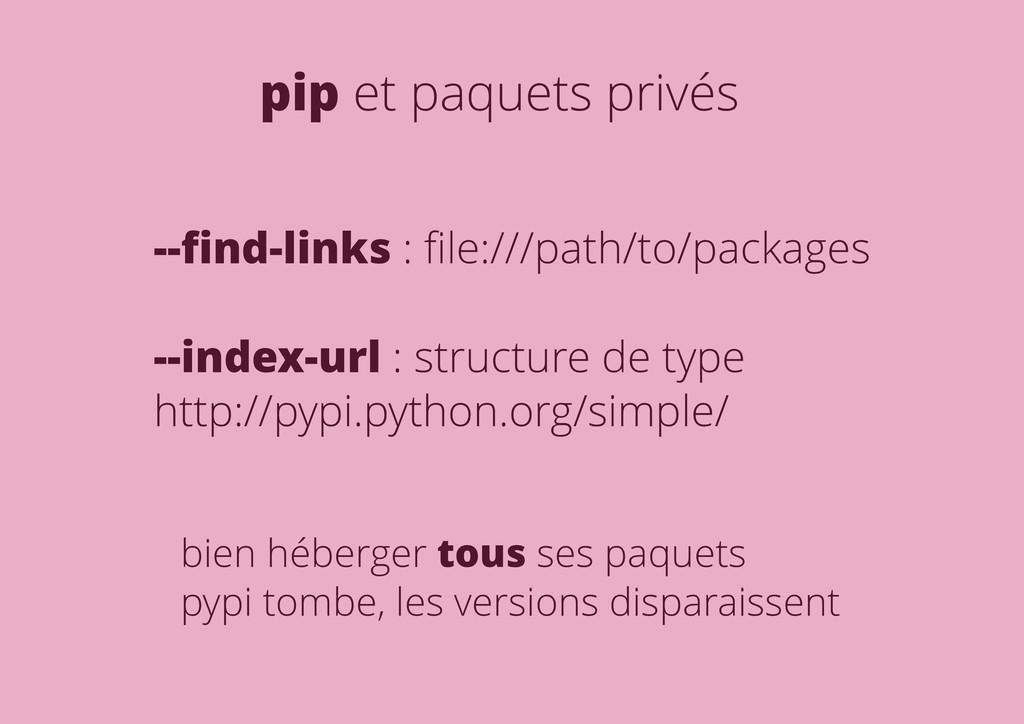 pip et paquets privés --find-links : file:///path...