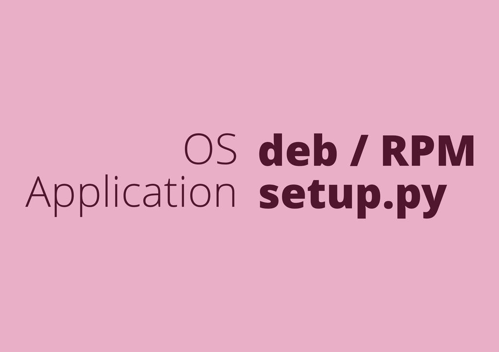 OS Application deb / RPM setup.py