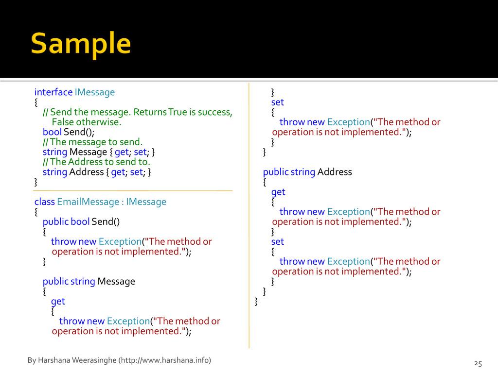 interface IMessage { // Send the message. Retur...