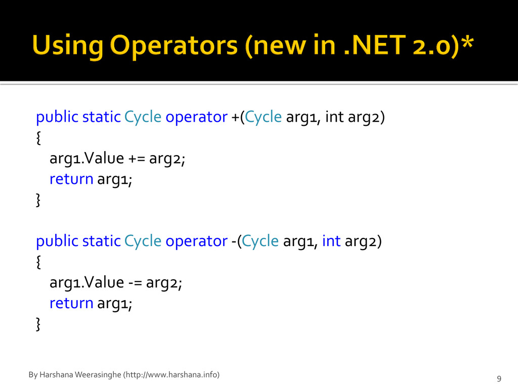 public static Cycle operator +(Cycle arg1, int ...