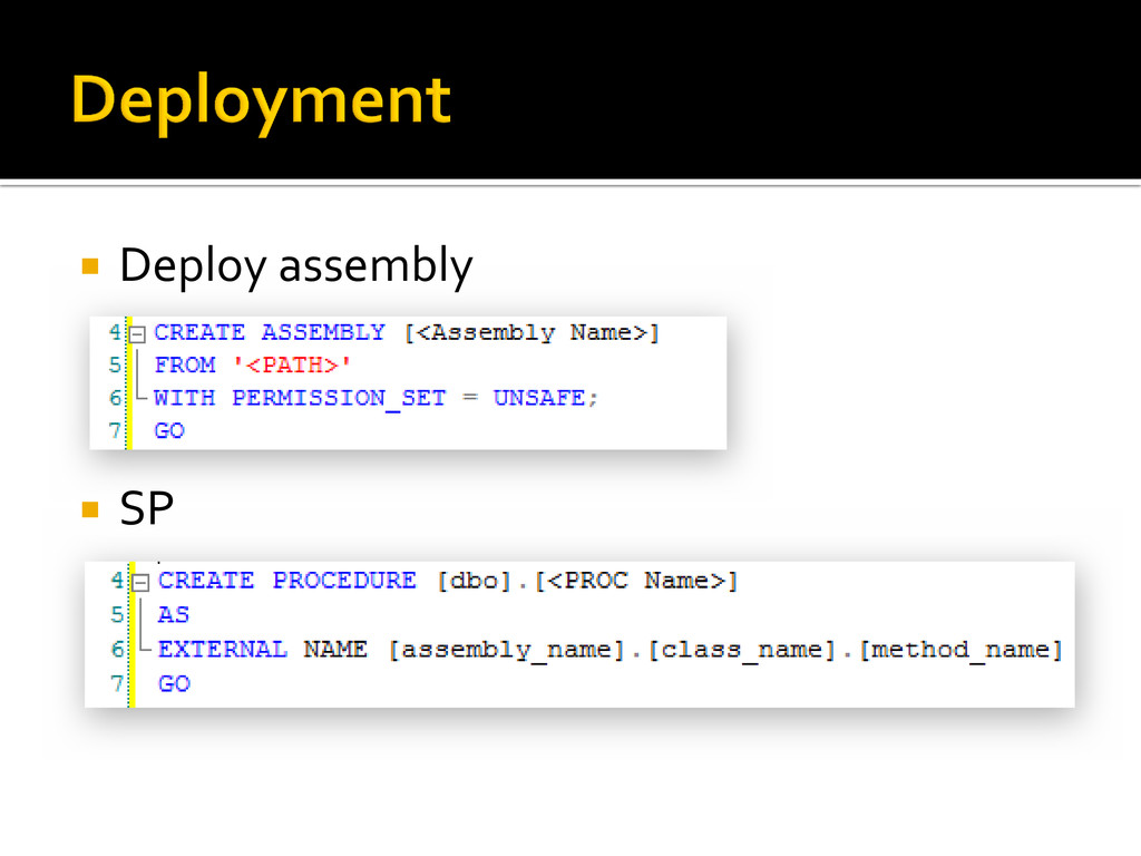  Deploy assembly  SP