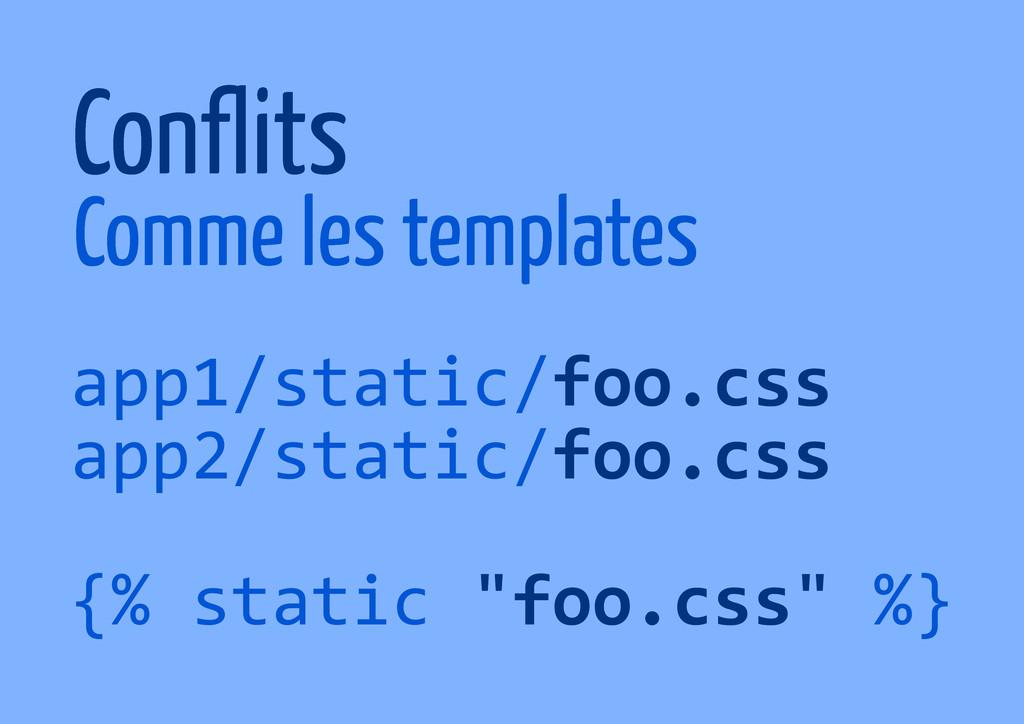app1/static/foo.css app2/static/foo.css {% stat...