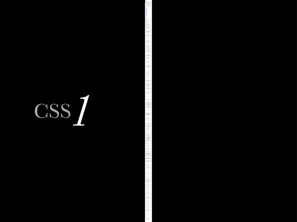 1 CSS