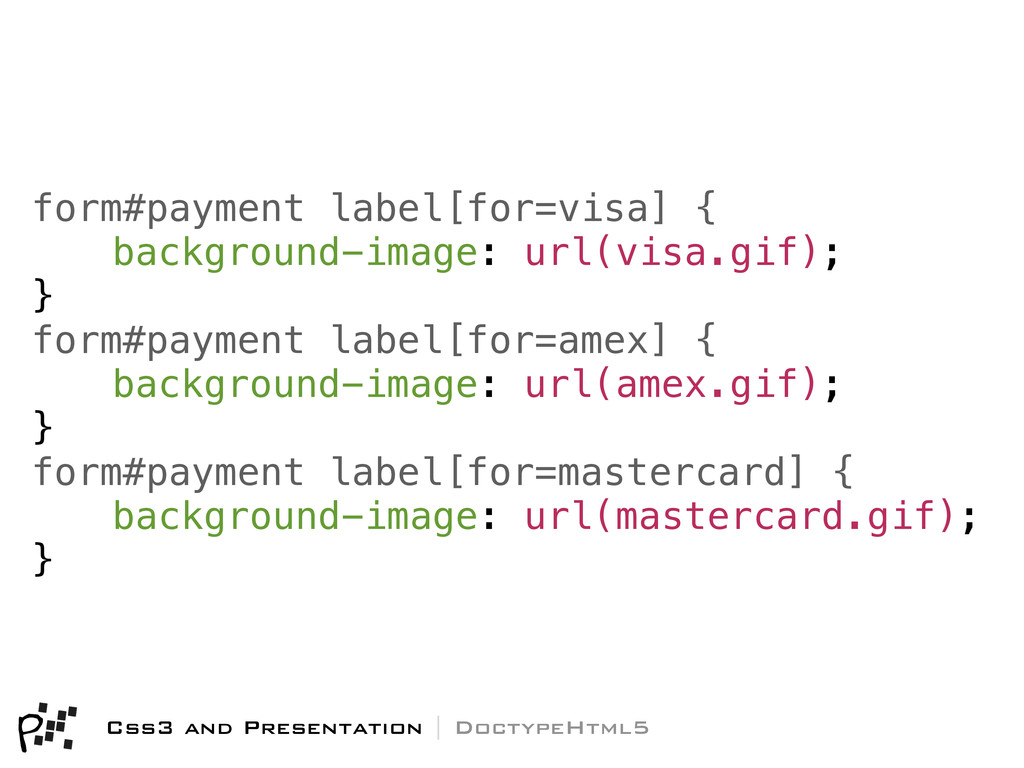 Css3 and Presentation | DoctypeHtml5 form#payme...