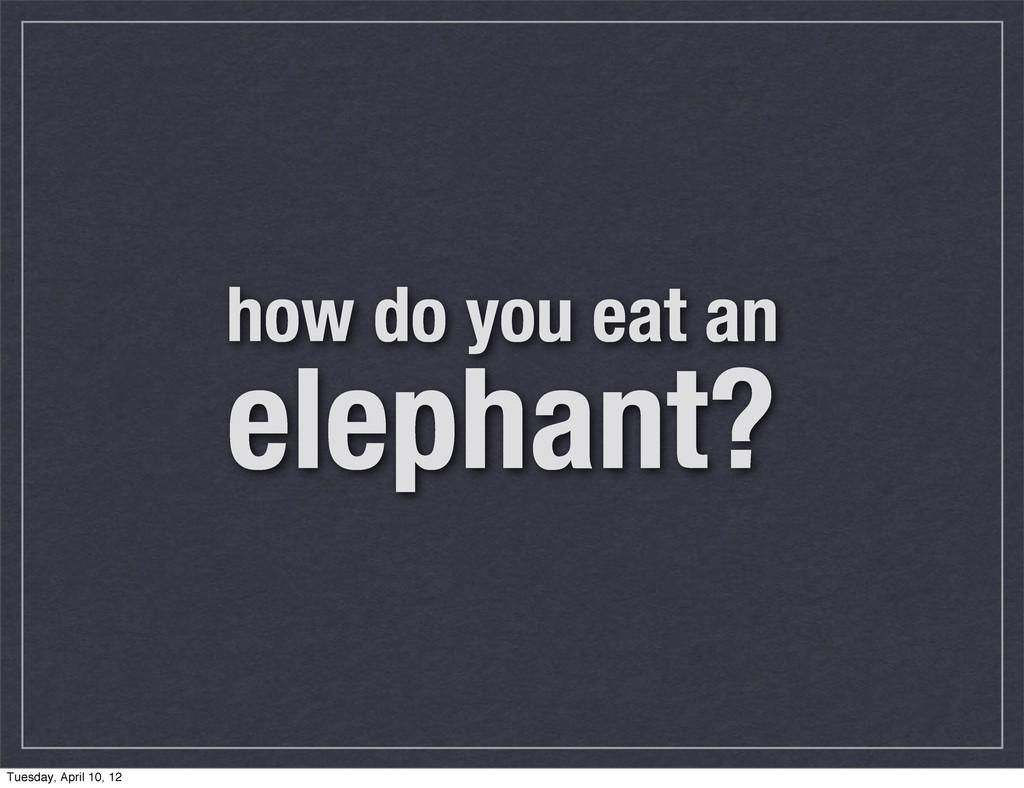how do you eat an elephant? Tuesday, April 10, ...