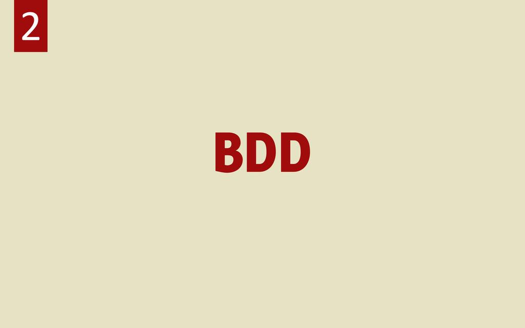 BDD 2
