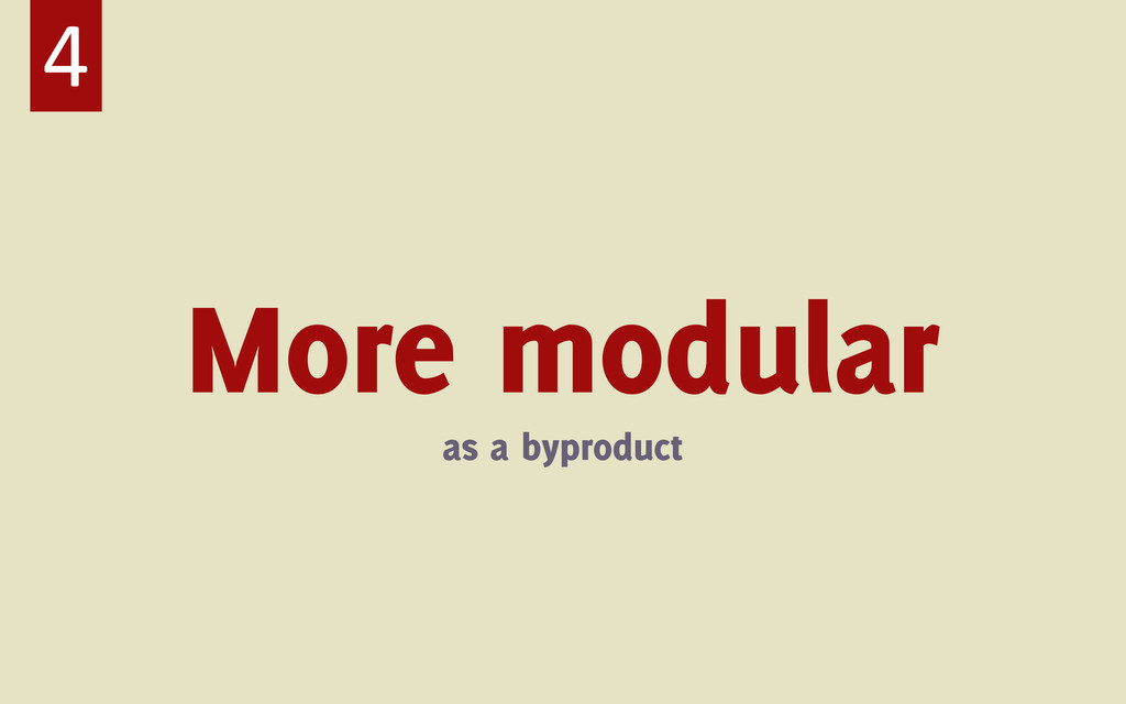 More modular as a byproduct 4