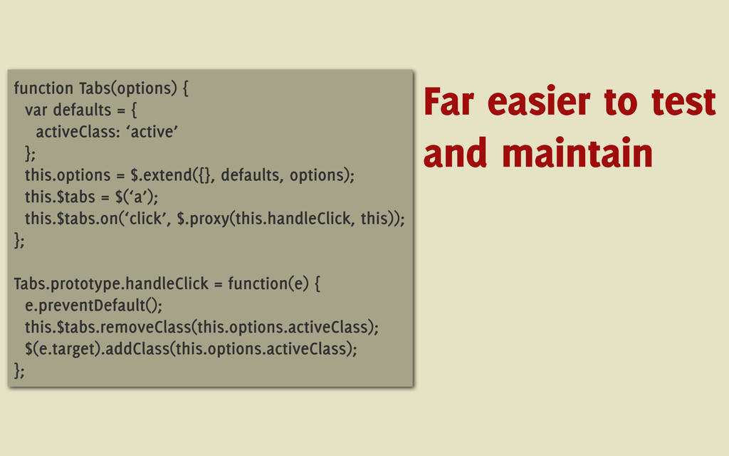 function Tabs(options) { var defaults = { activ...