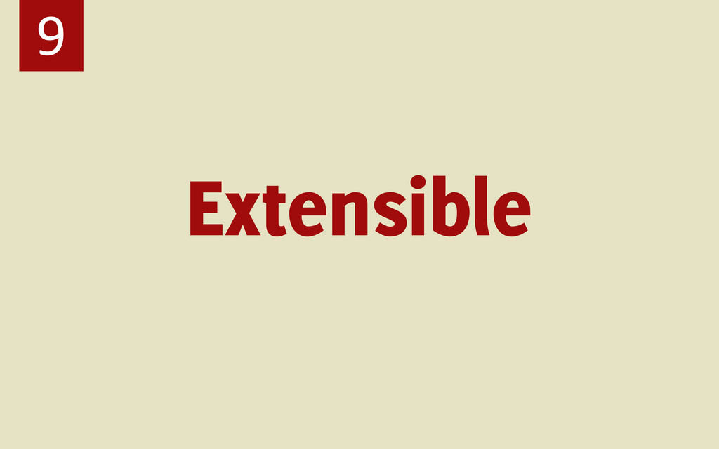 Extensible 9