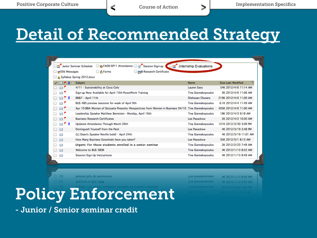 Policy Enforcement - Junior / Senior seminar cr...