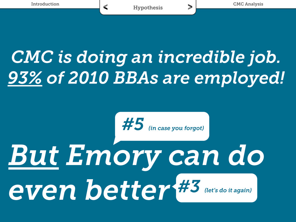 CMC is doing an incredible job. 93% of 2010 BBA...