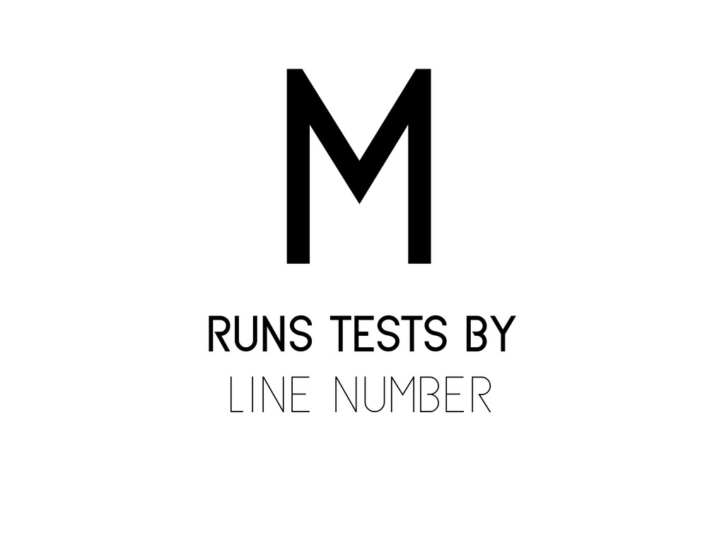 runs tests by line number m