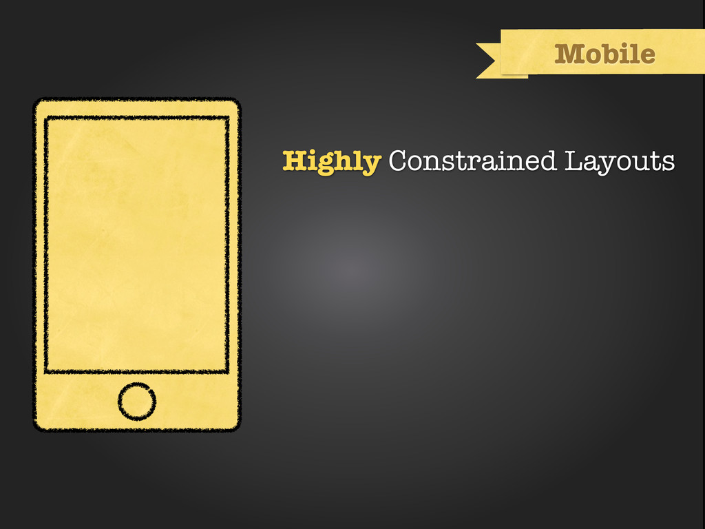 Highly Constrained Layouts Mobile