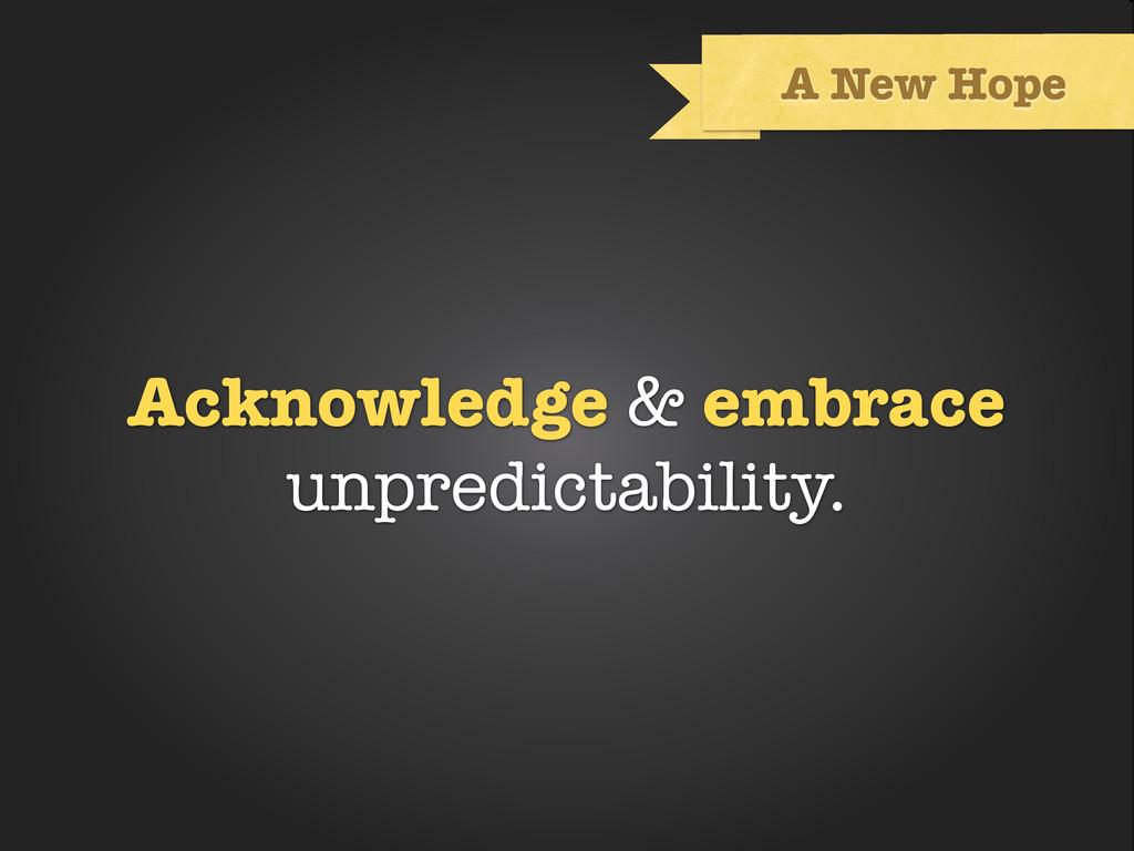 Text A New Hope Acknowledge & embrace unpredict...