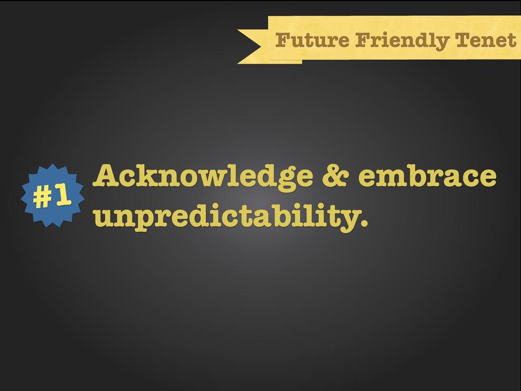 Text Future Friendly Tenet Acknowledge & embrac...