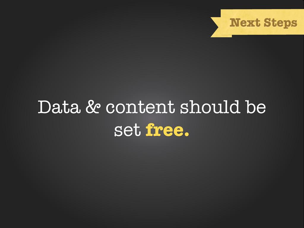 Text Next Steps Data & content should be set fr...