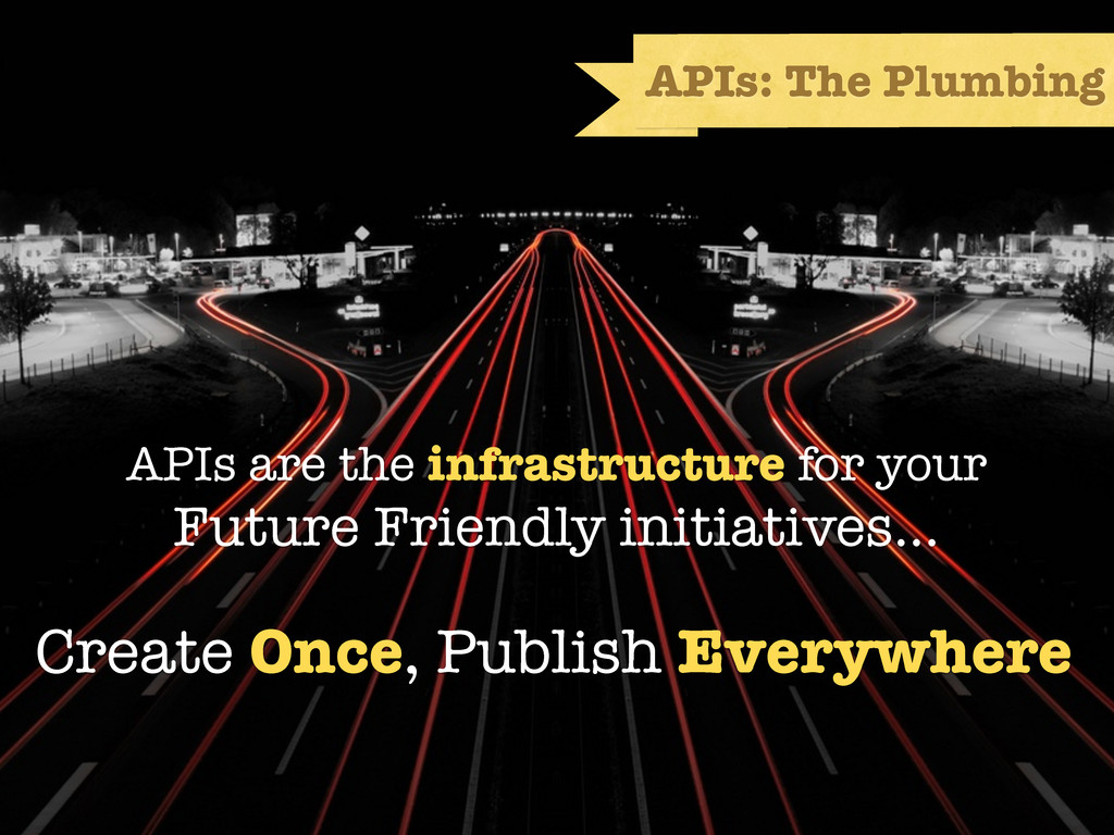 API First APIs: The Plumbing Create Once, Publi...