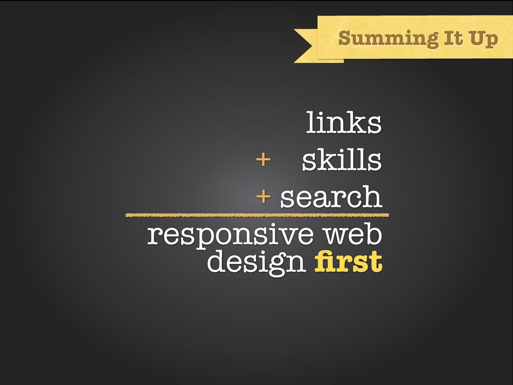 links + skills + search responsive web design fi...