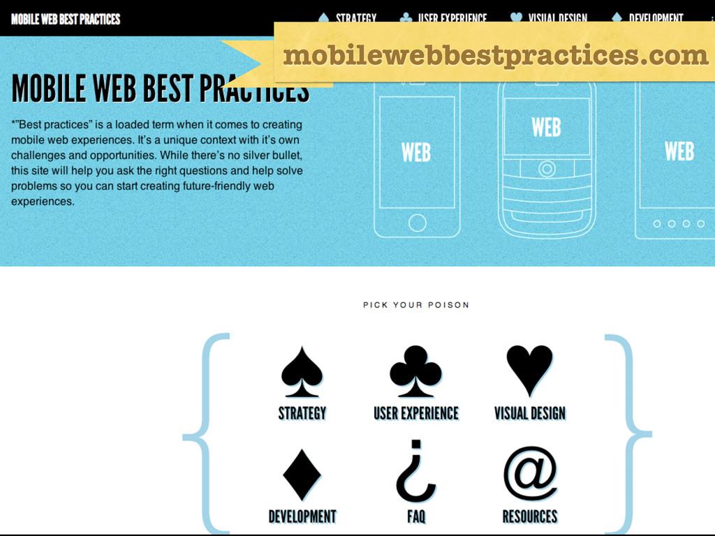 Twitter & Stuff mobilewebbestpractices.com
