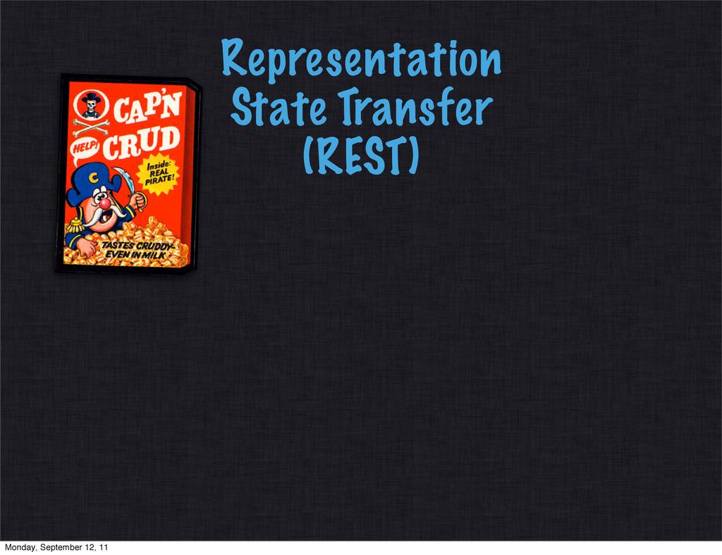 Representation State Transfer (REST) Monday, Se...