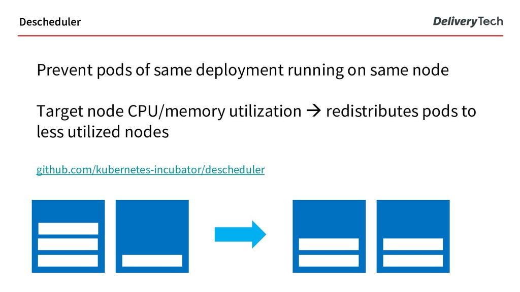 Prevent pods of same deployment running on same...