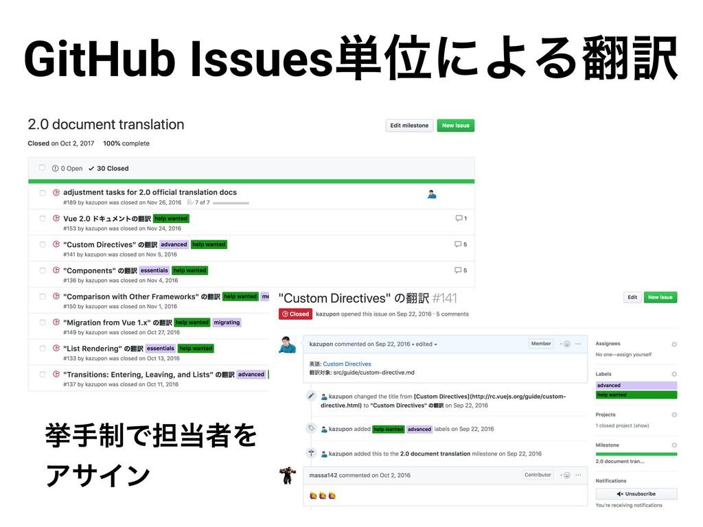 GitHub Issues୯ҐʹΑΔ༁ ڍख੍Ͱ୲ऀΛ ΞαΠϯ