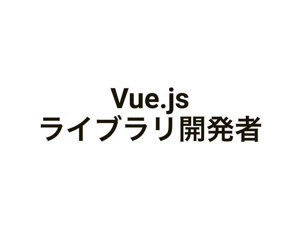 Vue.js ϥΠϒϥϦ։ൃऀ