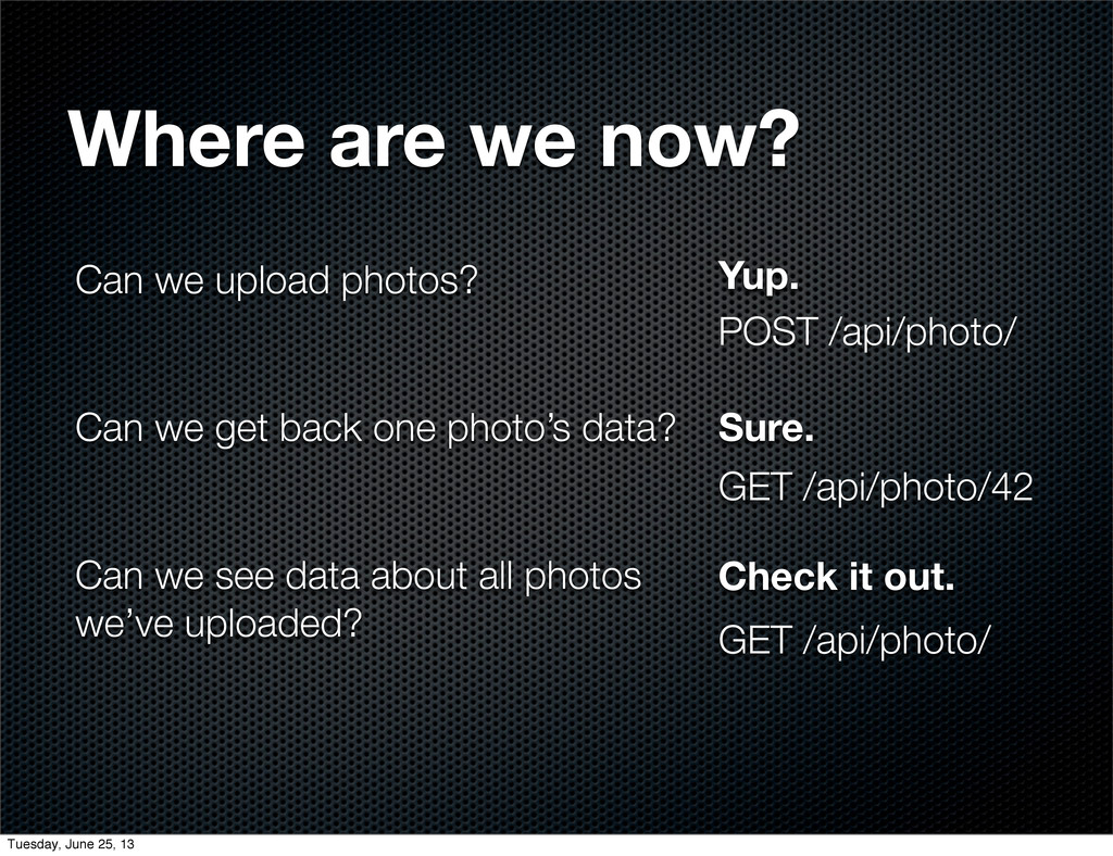 Can we upload photos? Can we get back one photo...