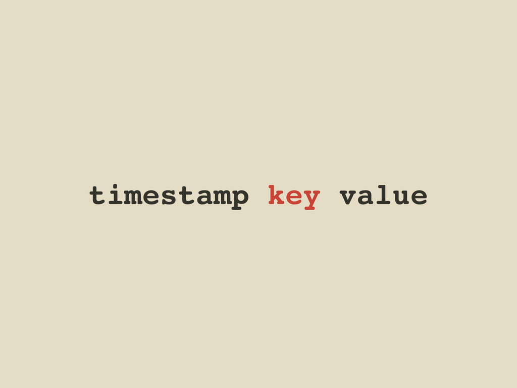 timestamp key value