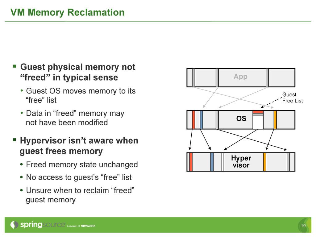 19 VM Memory Reclamation § Guest physical mem...