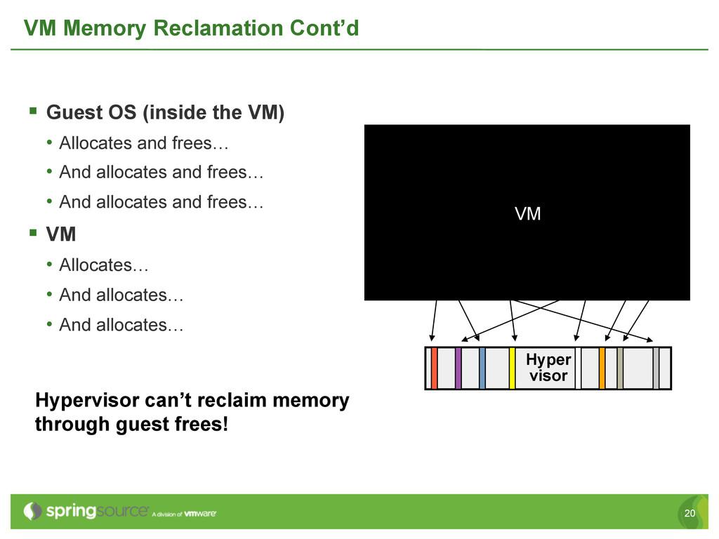 20 VM Memory Reclamation Cont'd § Guest OS (i...