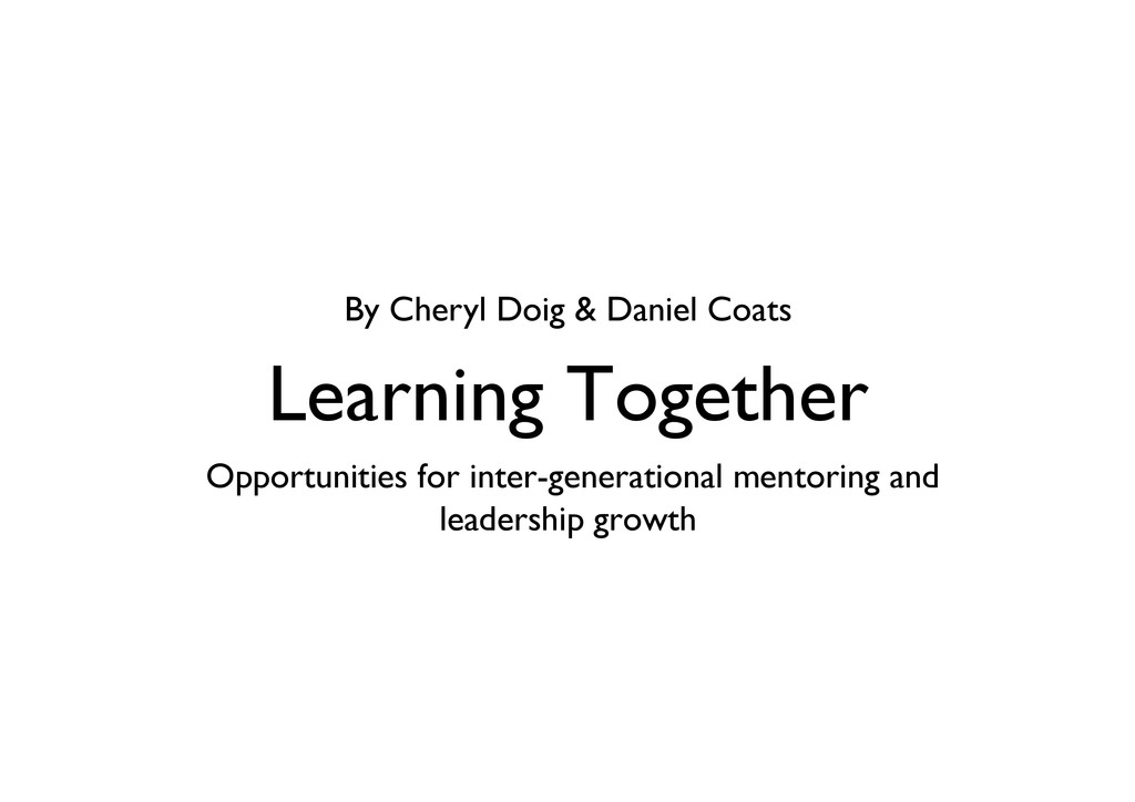 Learning Together Opportunities for inter-gene...