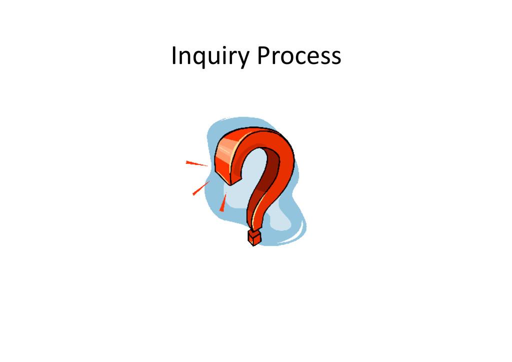 InquiryProcess