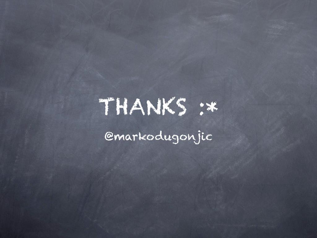 THANKS :* @markodugonjic