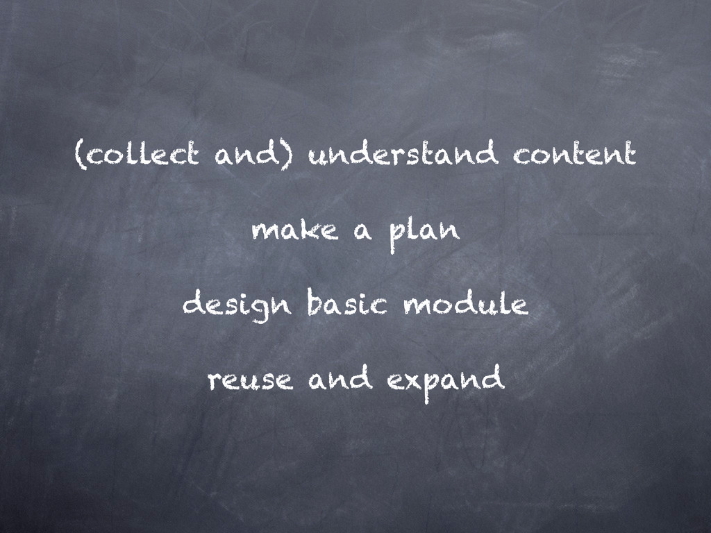 (collect and) understand content make a plan de...