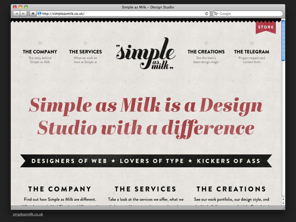 simpleasmilk.co.uk