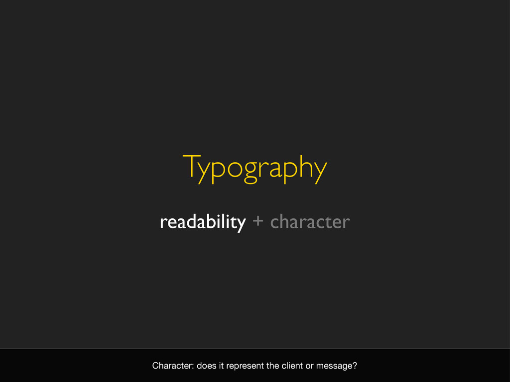 Typography readability + character Character: d...