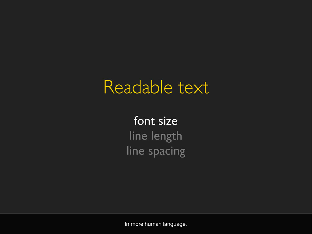 Readable text font size line length line spacin...