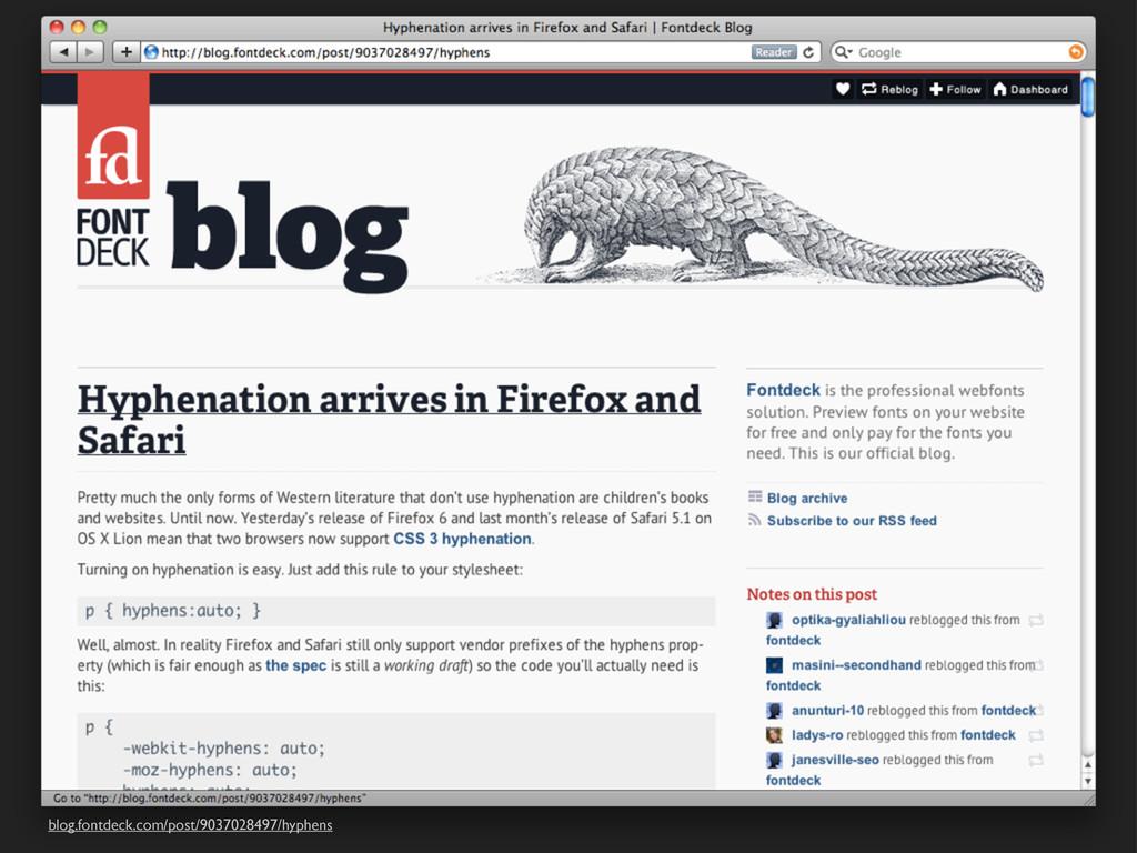 blog.fontdeck.com/post/9037028497/hyphens