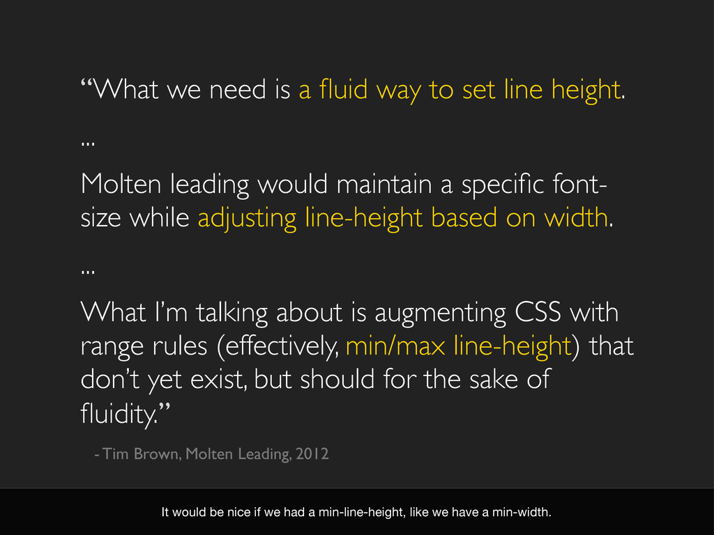 """""""What we need is a fluid way to set line height...."""