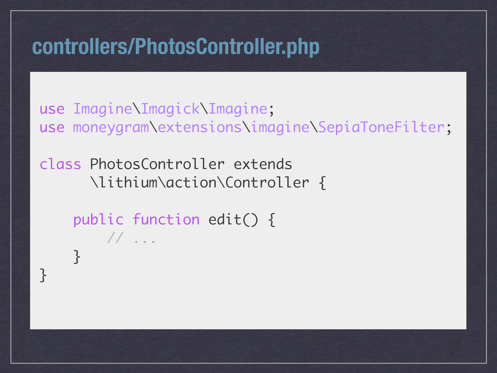 controllers/PhotosController.php use Imagine\Im...