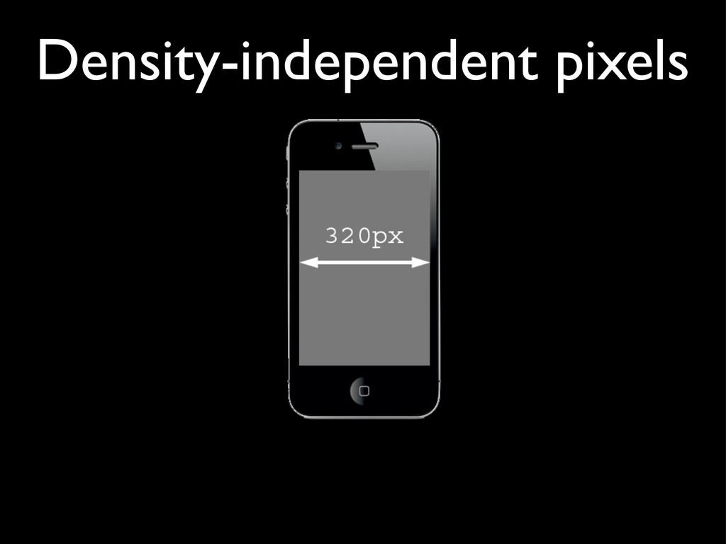 Density-independent pixels