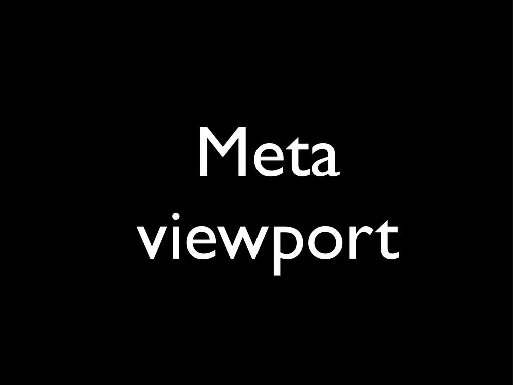 Meta viewport