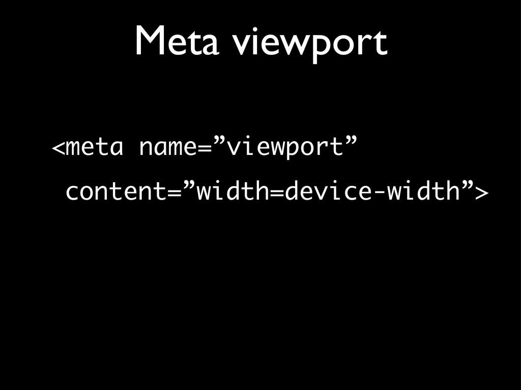 """Meta viewport <meta name=""""viewport"""" content=""""wi..."""