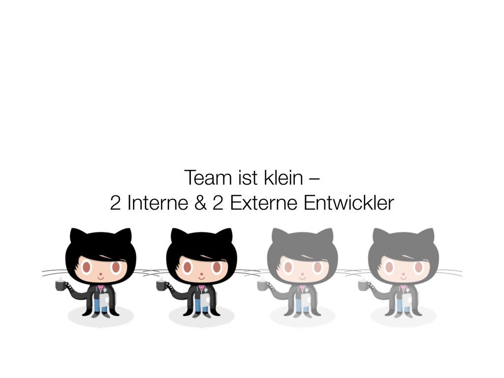 Team ist klein – 2 Interne & 2 Externe Entwickl...