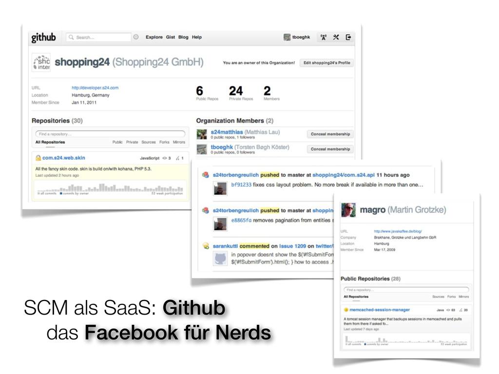 SCM als SaaS: Github  das Facebook für Nerds