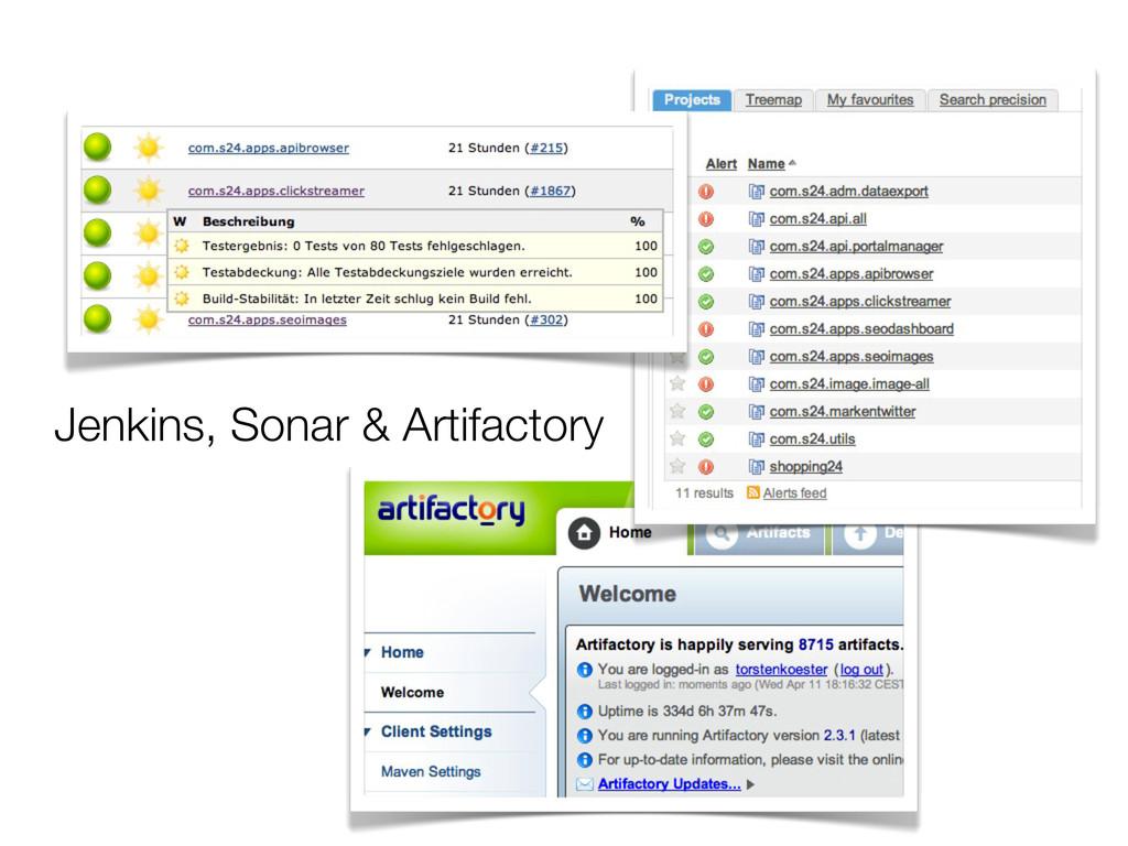Jenkins, Sonar & Artifactory