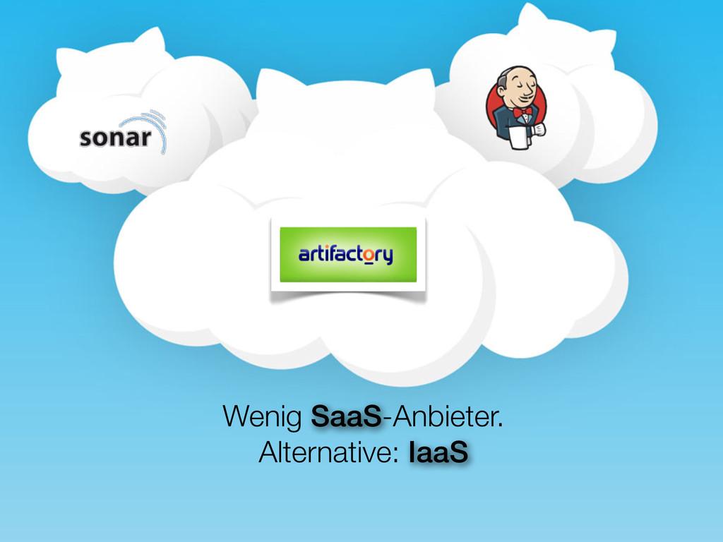 Wenig SaaS-Anbieter. Alternative: IaaS