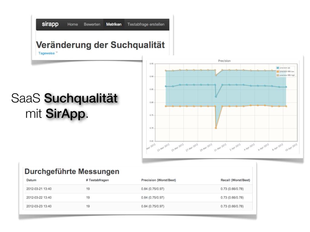 SaaS Suchqualität mit SirApp.
