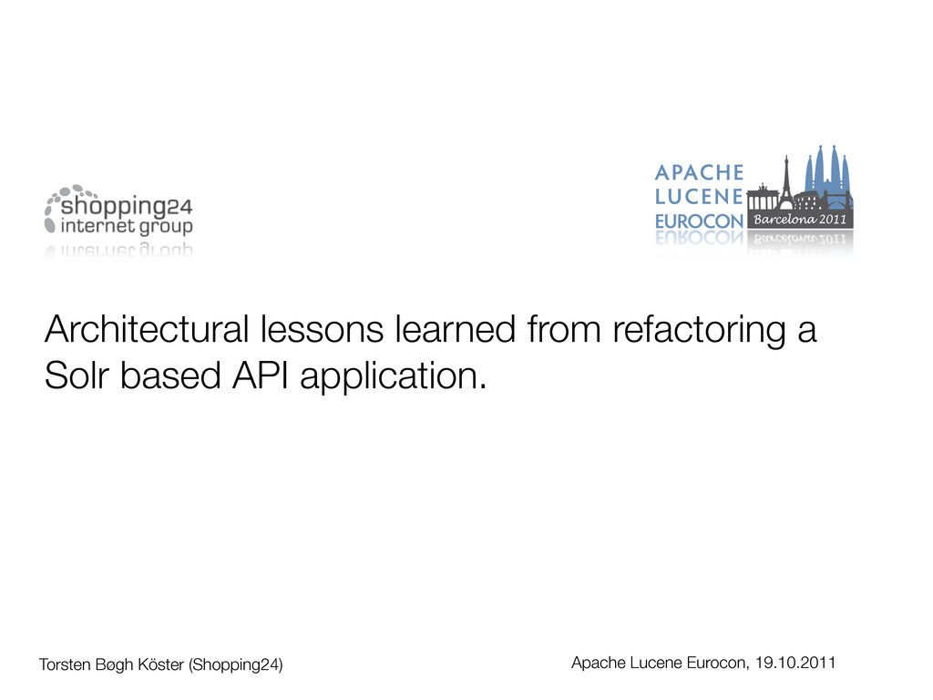 Architectural lessons learned from refactoring ...